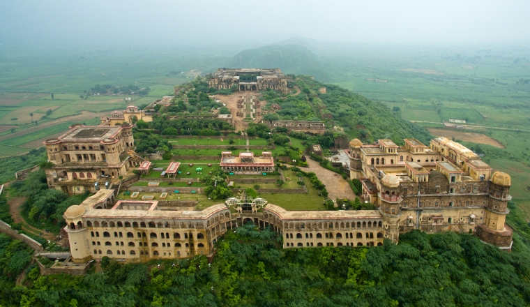 An arial view of Tijara Fort-Palace